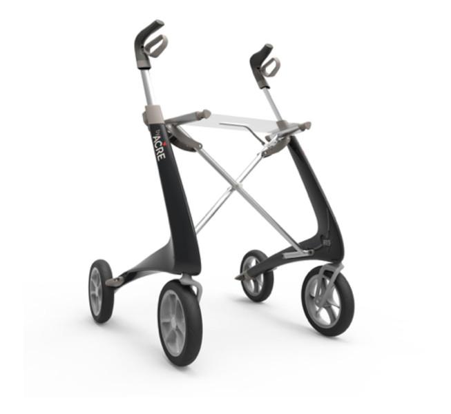 Carbon Ultralight rollator: ultra licht, ergonomisch en modern De Rijcker GO